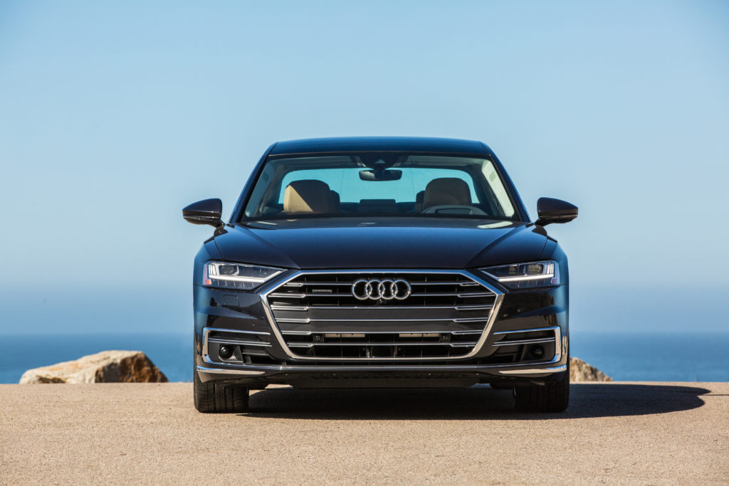 Audi A8 2019 exterior front on