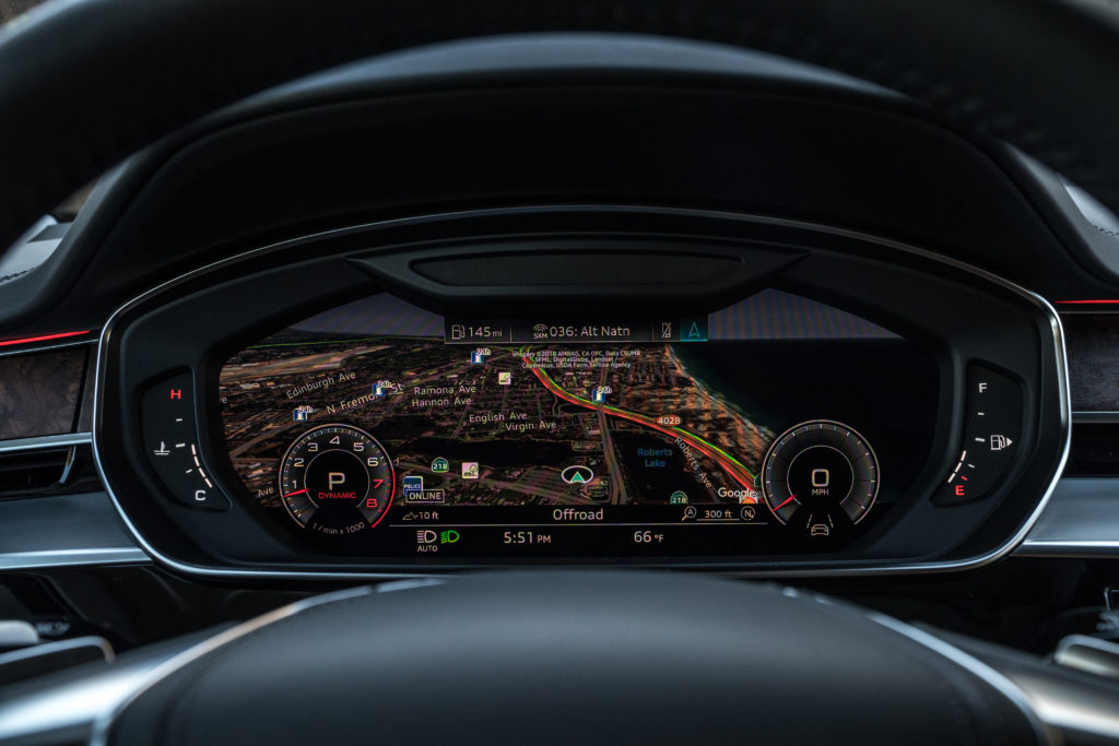 Audi A8 2019 interior car tech