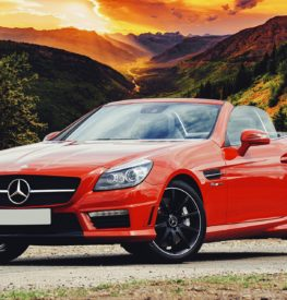 Featured Mercedes-Benz in mountain setting