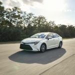 A 2020 Toyota Corolla Hybrid Driving