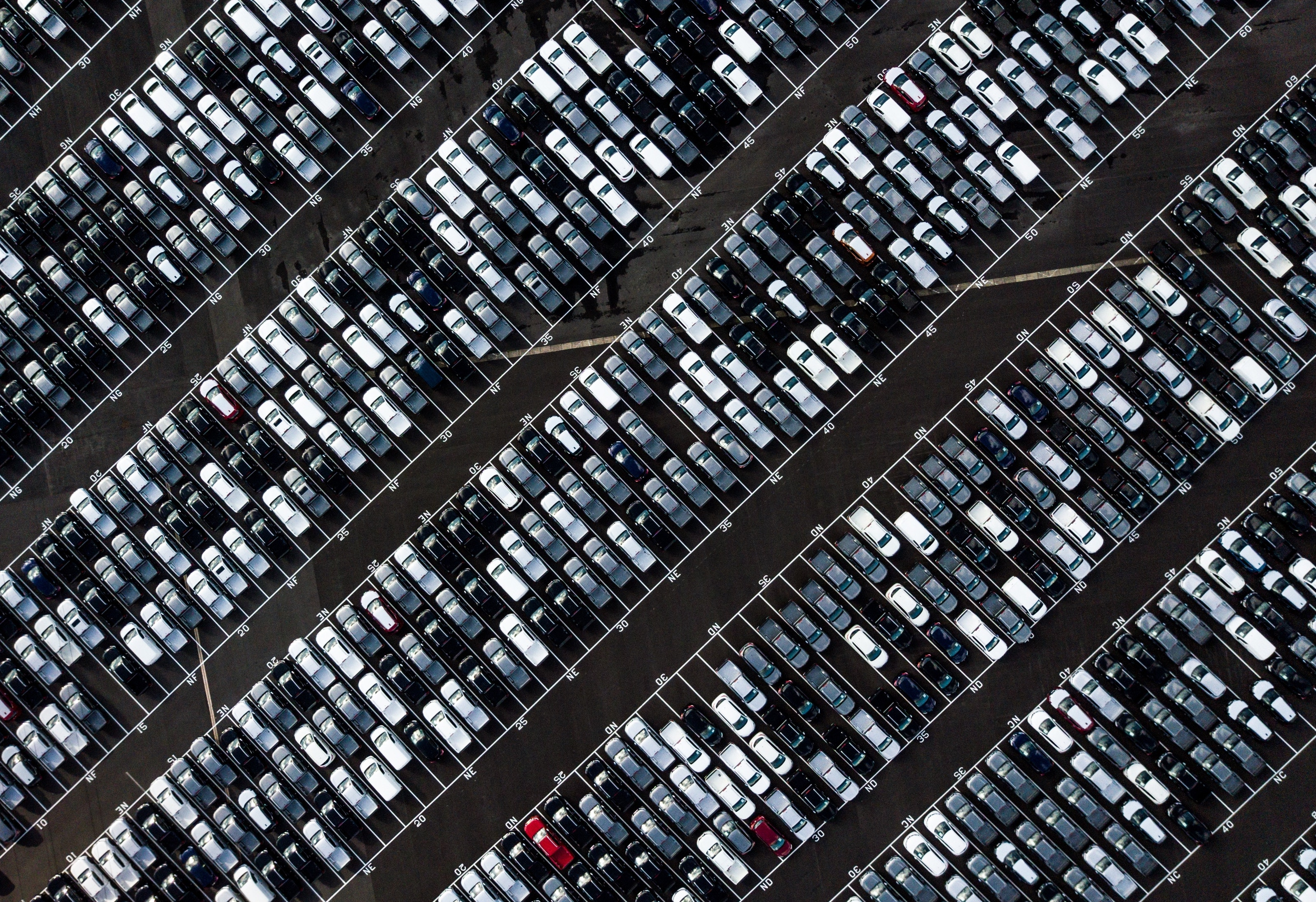 Parking lot overhead view