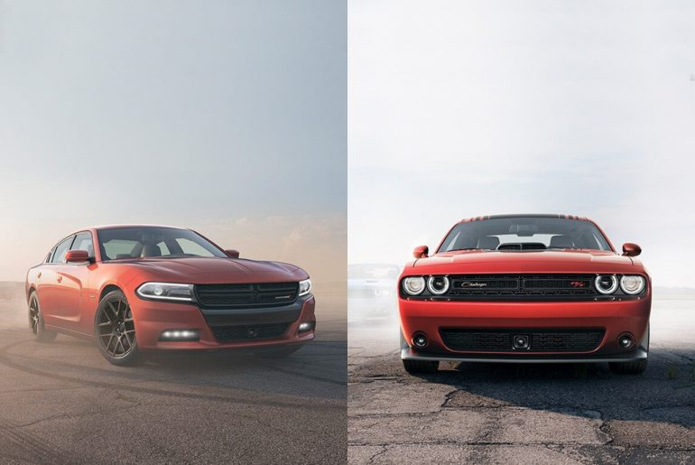 Dodge Charger and Dodge Challenger side by side