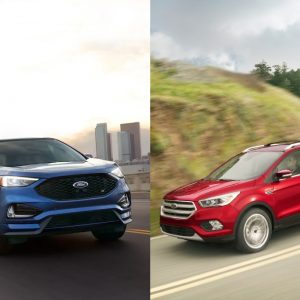 Ford Edge and Ford Escape side by side