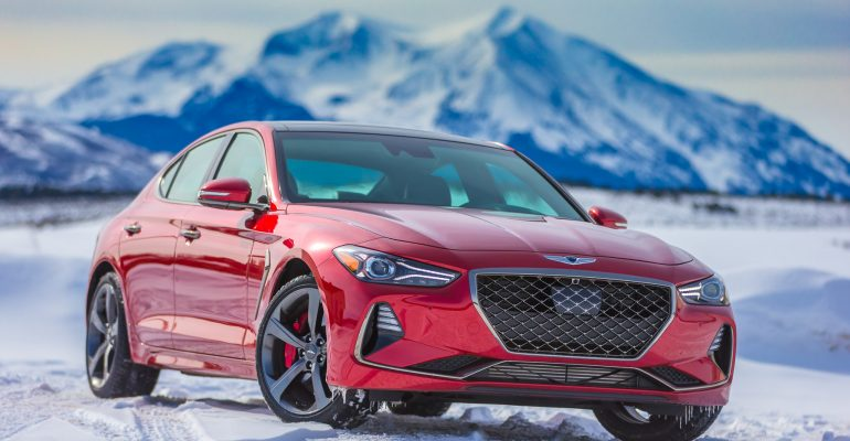 2019 Genesis G70 in the snow