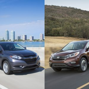 Honda HR-V and Honda CR-V side by side