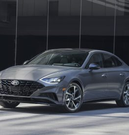 Grey 2020 Hyundai Sonata outside building