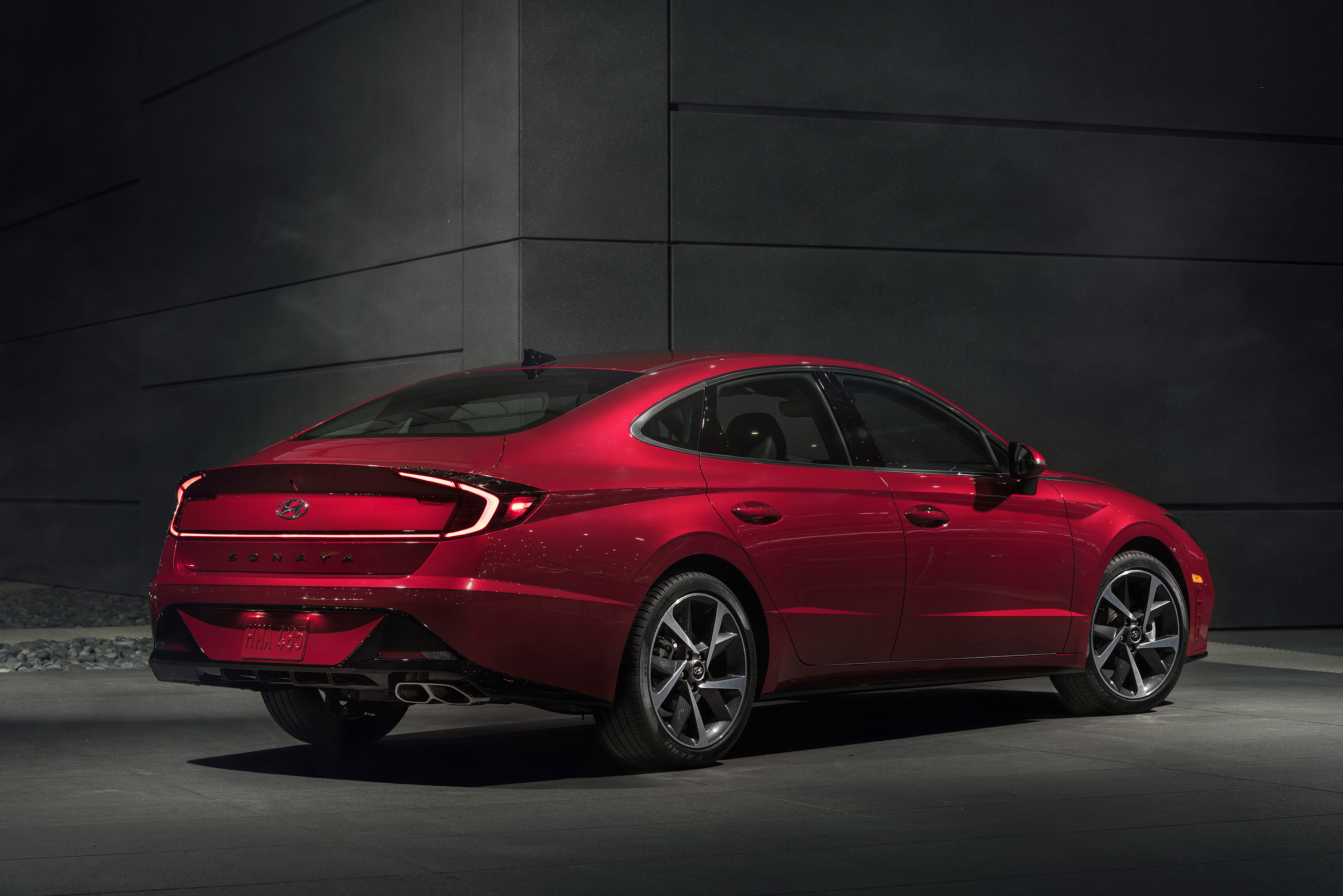 2020 Hyundai three quarter rear view