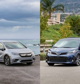 Honda Odyssey and Toyota Sienna side by side