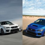Subaru WRX and Subaru WRX STI side by side