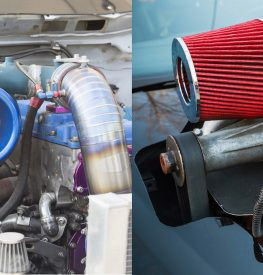 a turbocharger and supercharger next to each other