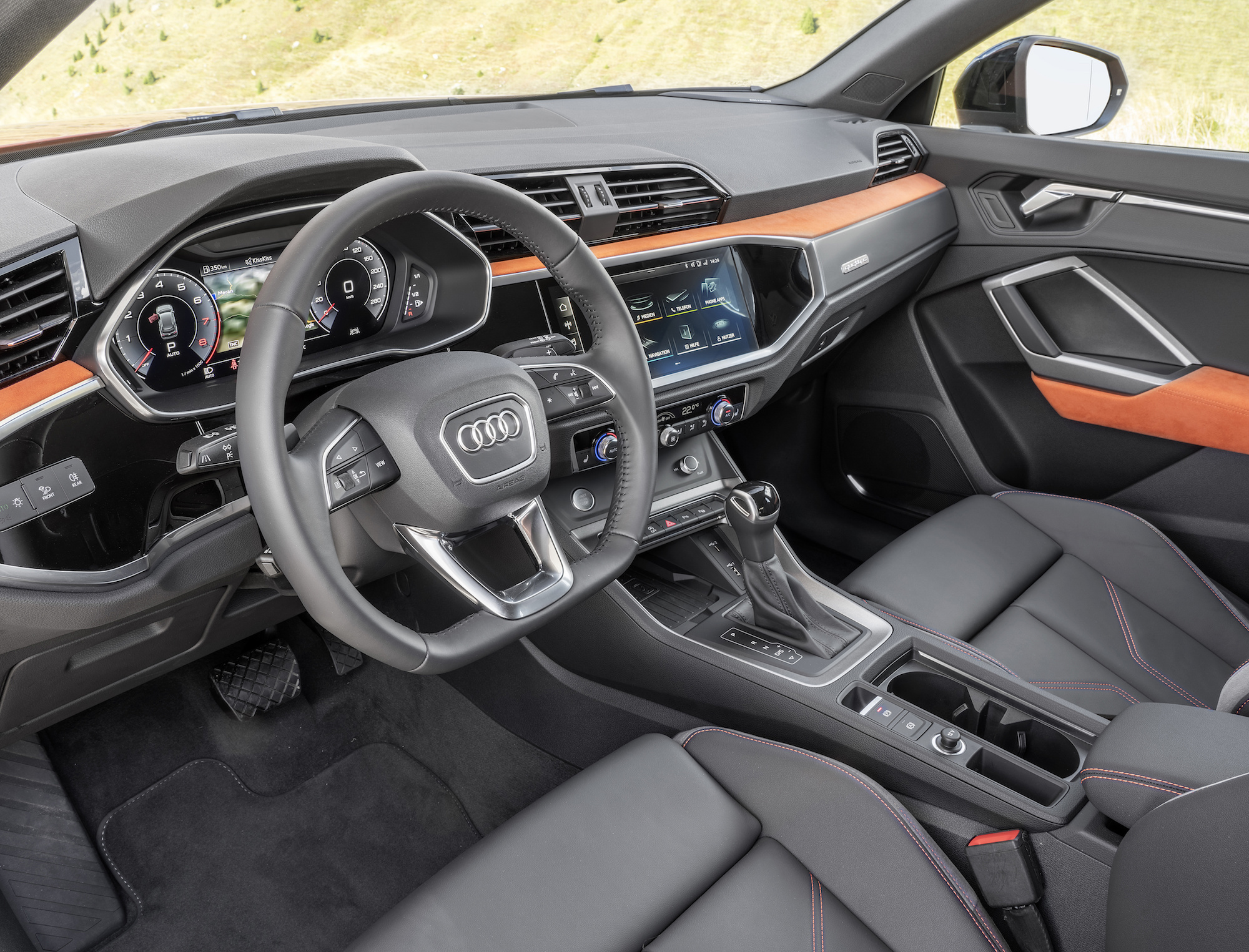 Audi Q3 Orange dashboard