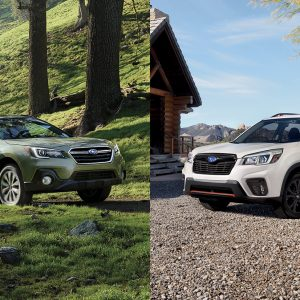 Outback side by side with Forester