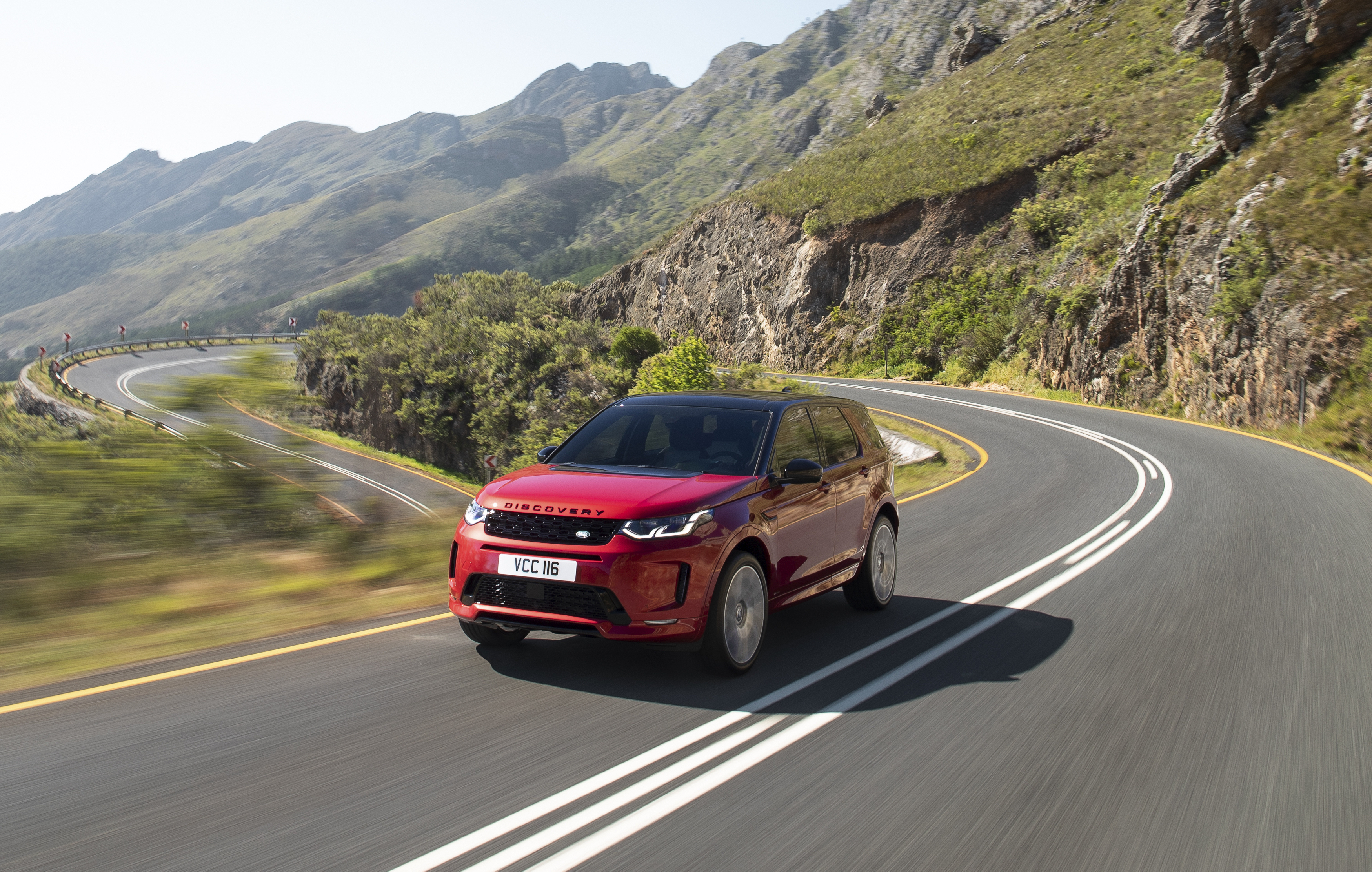 Land Rover Discovery on a mountain road
