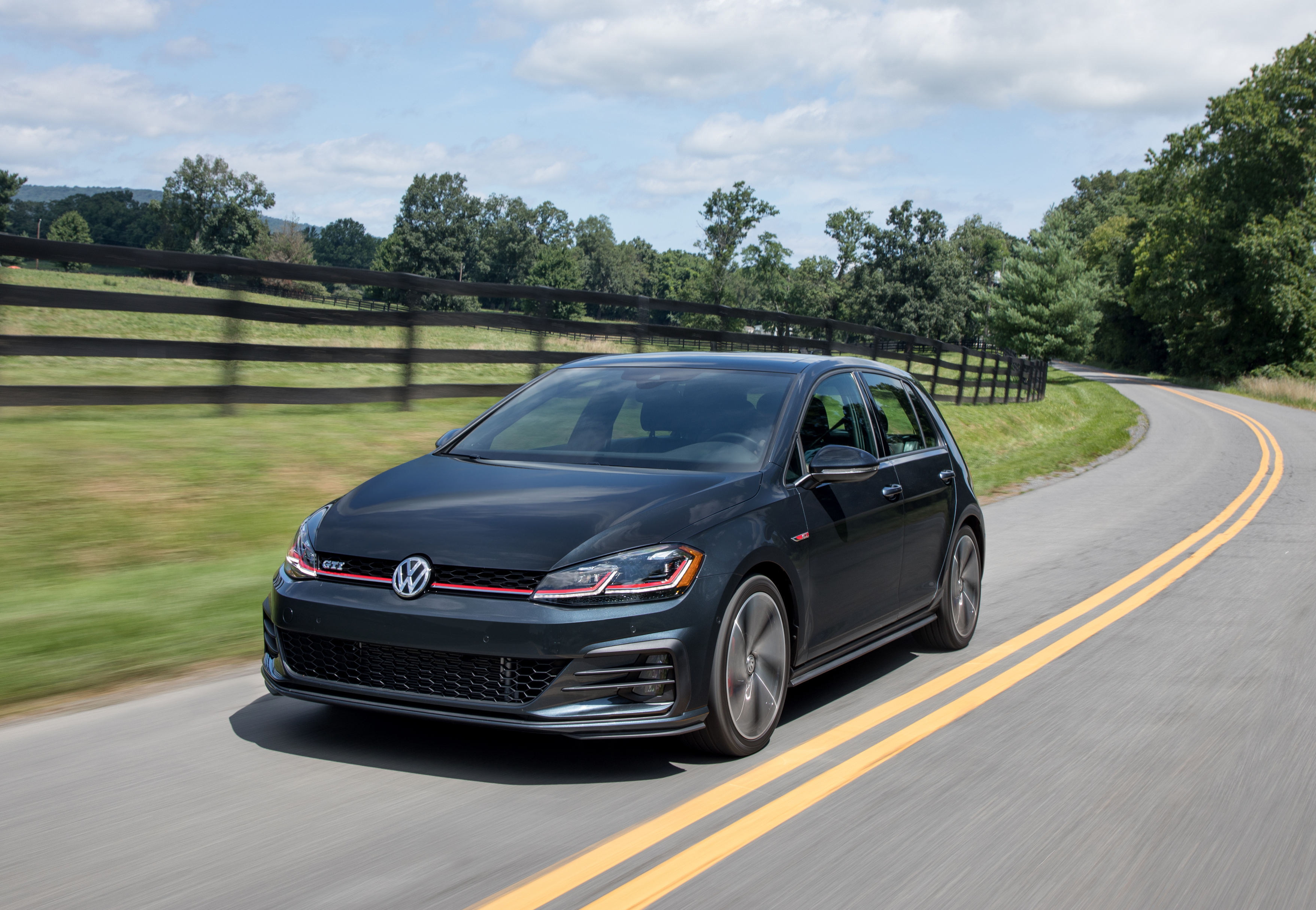 Golf GTI Driving on country road