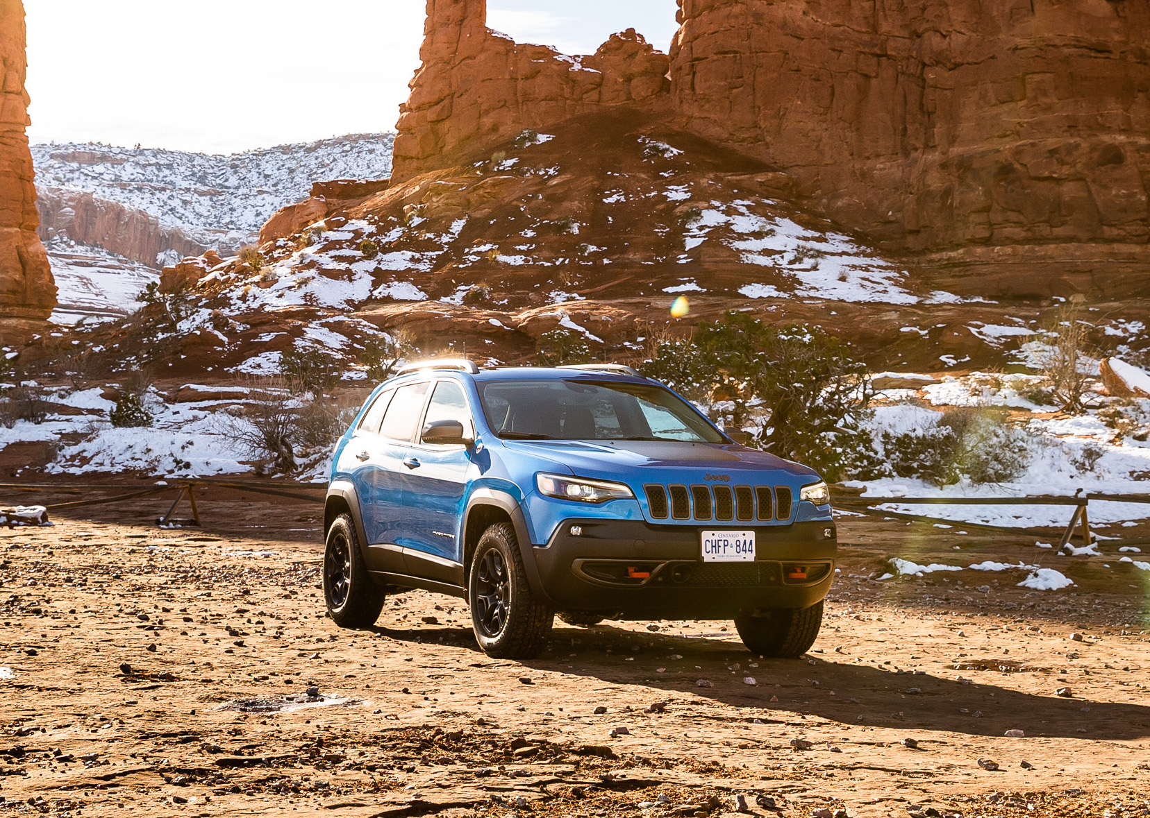 Jeep Cherokee Trailhawk in Moab