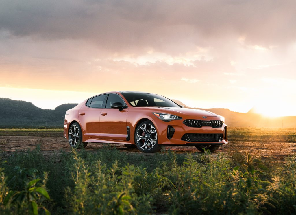 2019 Stinger GTS parked in field