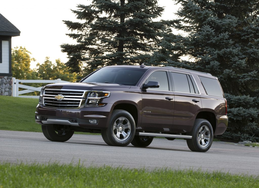 Brown 2015 Chevrolet Tahoe Z71 parked in driveway
