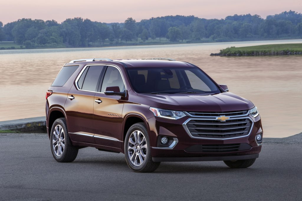 2019 Chevrolet Traverse Parked by Lake