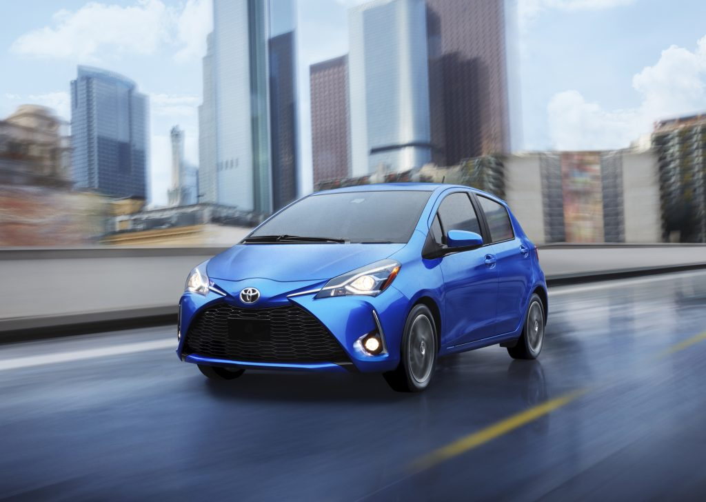 2019 Toyota Yaris Driving by city