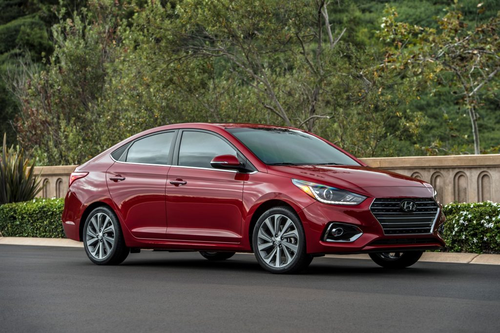 2019 Hyundai Accent outside